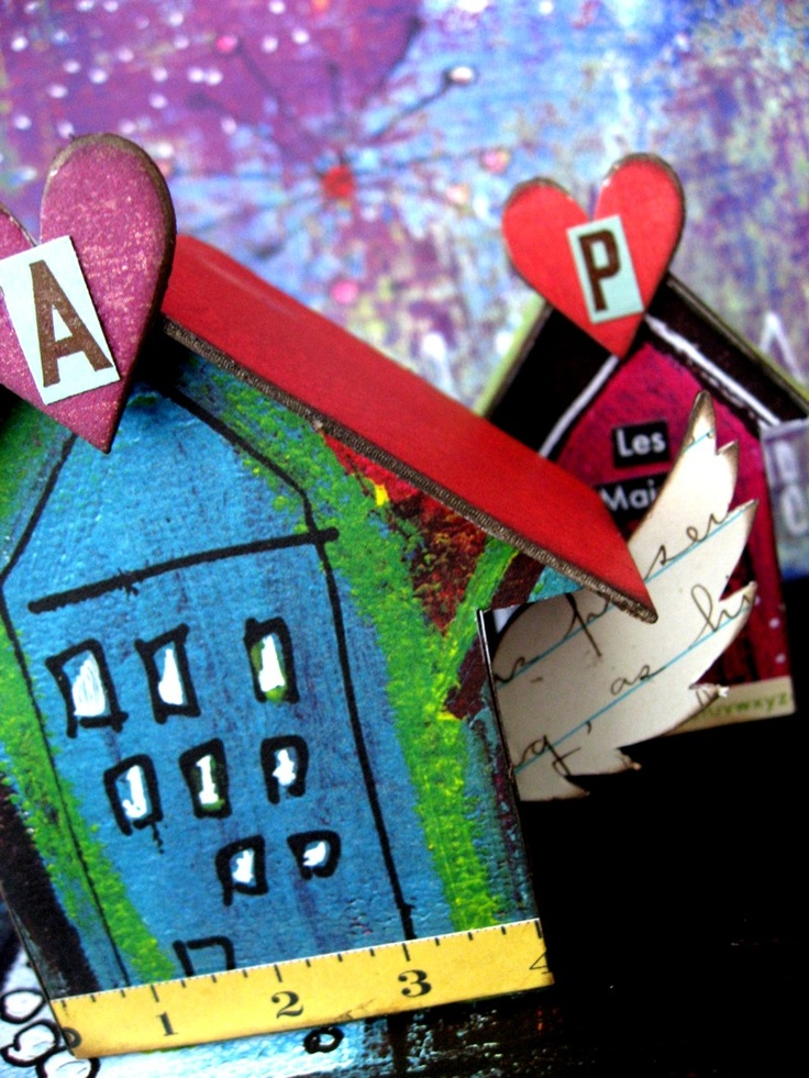 EfemeraInk: Little Houses Made Of...  I just love houses....and typography meaning, I love these too!