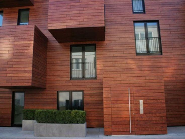 Elewacja z płyt HPL ProdEX pokrytych 100% naturalną okleiną drewnianą (fot. Granpol)