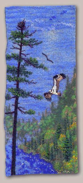 Joe Wood bead artist - Large photo of Osprey Over Greenwood