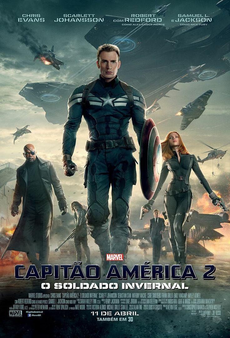 Cartaz brasileiro de Capitão América 2: O Soldado Invernal.