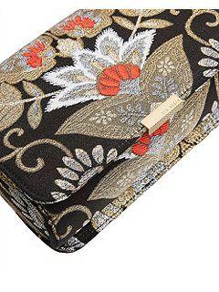 Ted Baker Edena Opulent Orient Jacquard Clutch Bag Black - House of Fraser
