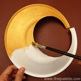Diy Egyptian Collar or Necklace craft from a paper plate for girl scout international day craft