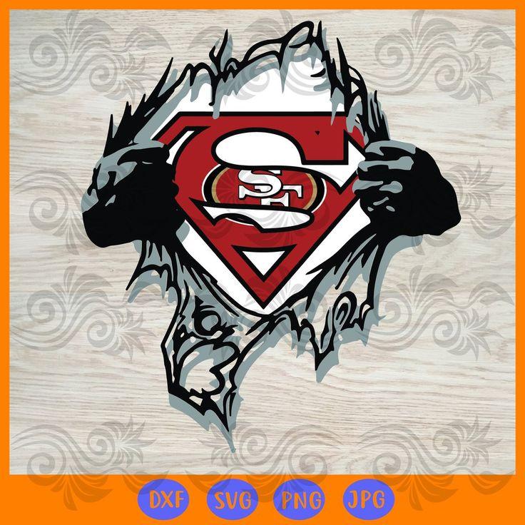 Team superhero san francisco 49ers SVG, DXF, EPS, PNG