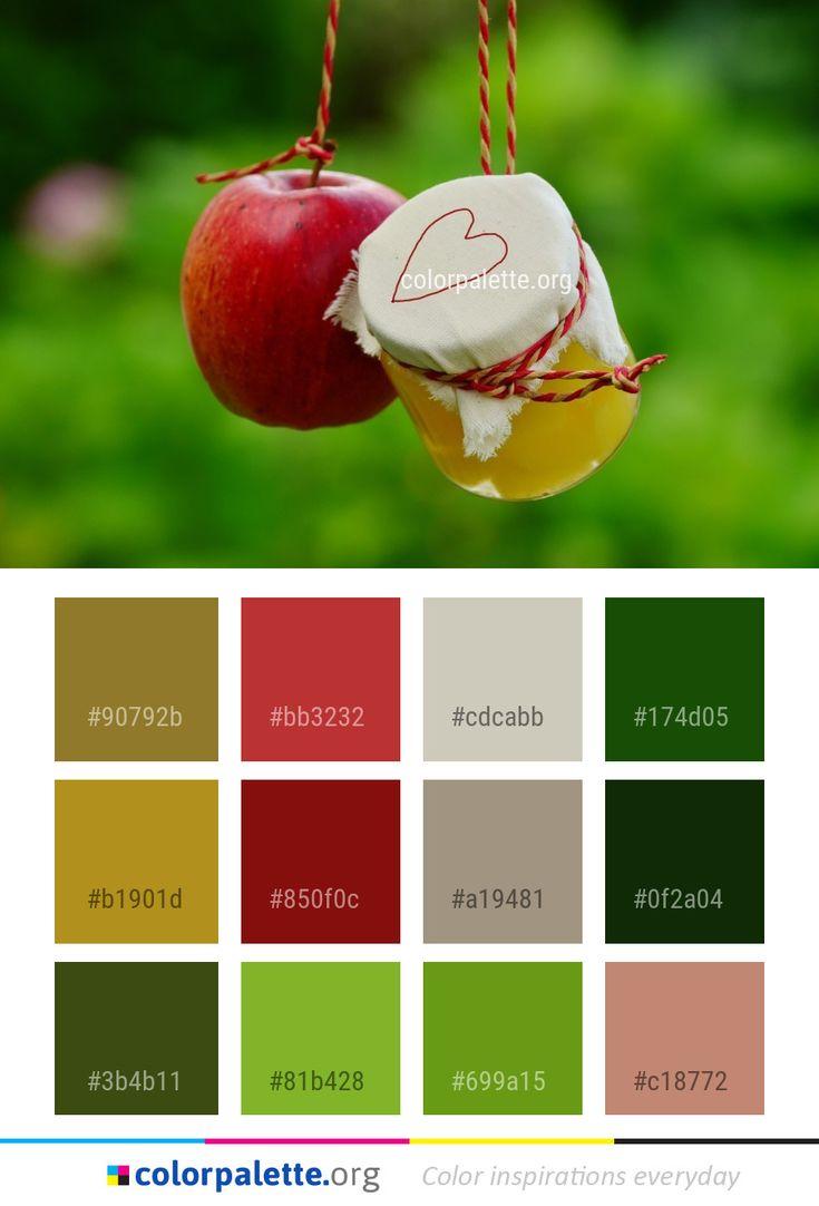 Apple Close Up Fruit Color Palette #colors #inspiration # ...