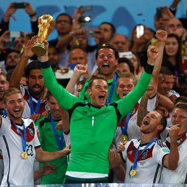 """MANUEL NEUER - THE WALL! """"Unbelievable! All of Germany are World Champions."""" #MiaSanWeltmeister #Deutschland"""