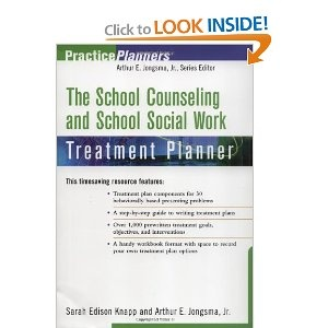 Great book - School counseling and school social work treatment planner
