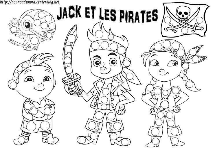 Jake et les pirates coloriage gommettes jack et les pirates coloriage jack le pirate - Coloriage jack le pirate ...