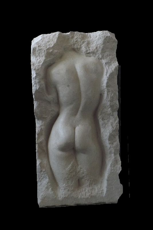 David Klein ARBS - Contained - Emergence IV - bath stone - 91x46x16cm