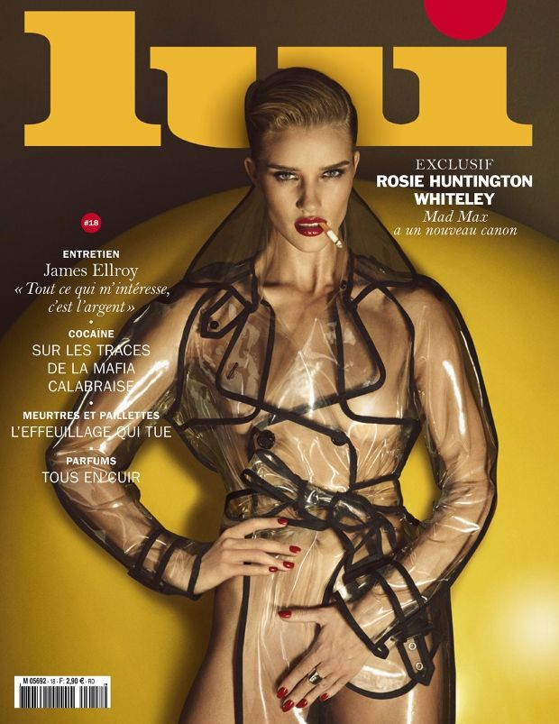 Rosie Huntington-Whiteley vamps it up on the cover of Lui's June issue!