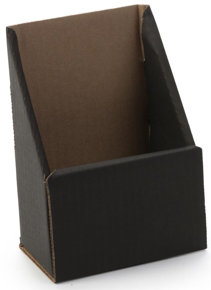 Single Pocket Brochure Holder for Tabletop, Fits 4 x 9 Pamphlets, Ships Flat - Black