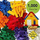 ToysOpoly 1000 Pieces Building Bricks - Compatible with Classic Legos, Mini Mega Bloks, Kinex Sets, Creative Duplo, Tyco, KRE-O + Free Removal Tool