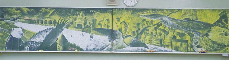 karatahta sanati resim yarisma tebesir japonya 5