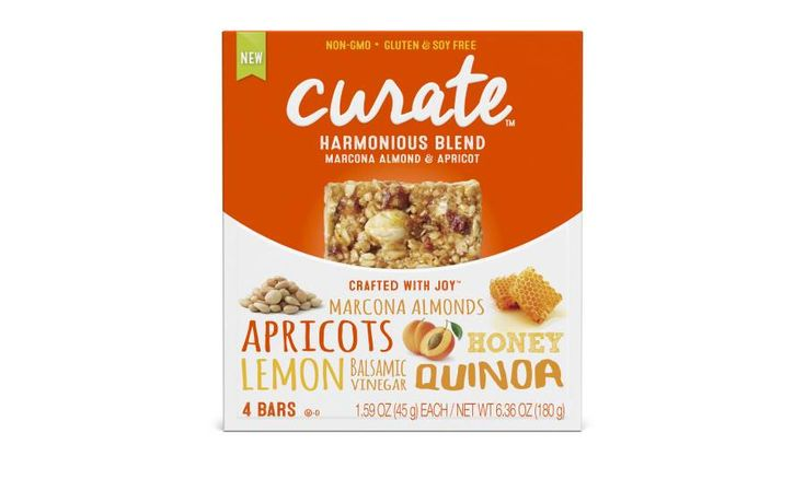 Part of Abbott's new Curate snack brand, Curate bars are made with hand-selected, real-food ingredient found in kitchens.