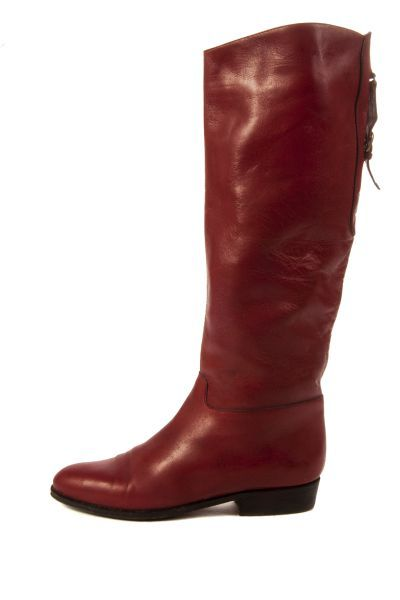 ILV annora boots bordeaux rood jaren 80 Vintage Stijl leren laarzen  dark red Direct leverbaar uit de webshop van www.ilovevintage.nl/