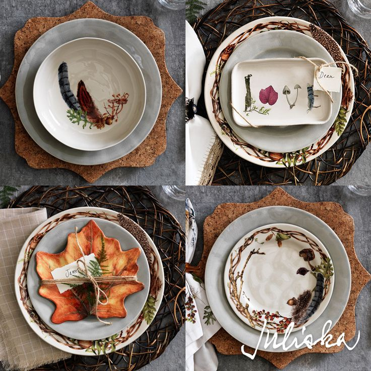 Add layers of intrigue to your tablesettings with gift trays and small pieces from our Forest Walk collection.