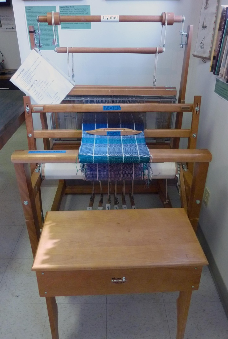 Stop in and try your hand at weaving. We have a loom set up and would be happy to give you a demo.