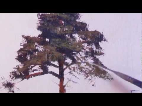 how to draw pine trees in the distance