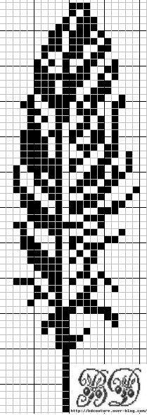alphabet - broderie - cross stitch - plume - Point de croix - Blog : http://broderiemimie44.canalblog.com/