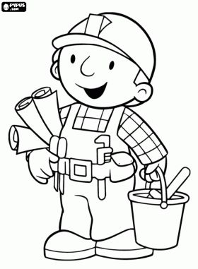 42 best bob the builder colouring pages images on Pinterest Bob