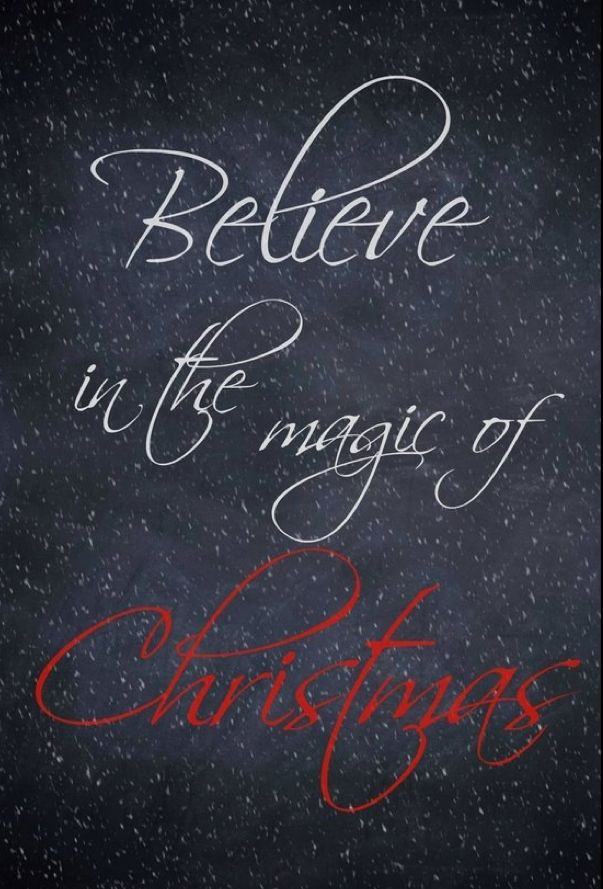 *❄️~*.Christmas.*~❄️* Believe in the Magic of . . .