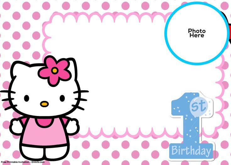 Free Hello Kitty 1st Birthday Invitation Template Free Printable
