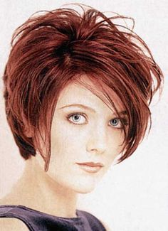 short layered asymmetrical haircuts for older women - Google Search