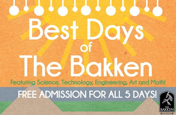 Bakken Museum Free Admission July 22-26, 11-4pm 3537 Zenith Avenue S.  Mpls, 55416