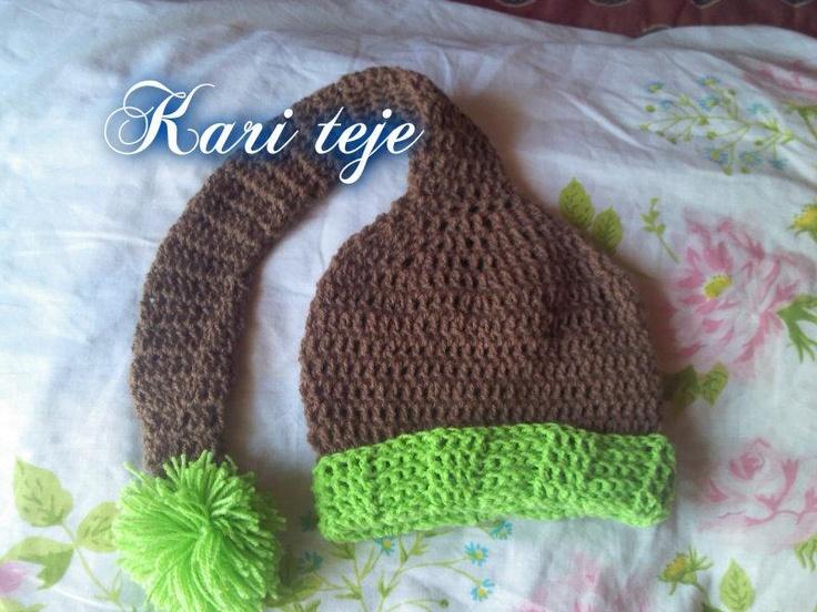 gorrito tejido a crochet