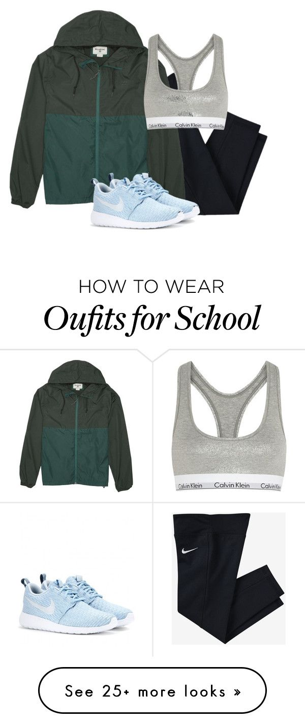 """""""hike>school"""" by southern-prep7 on Polyvore featuring NIKE, Billabong and Calvin Klein Underwear"""