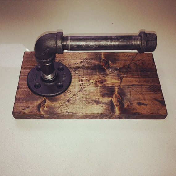 Industrial/Rustic Toilet Paper Holder by Lulight on Etsy, $30.00
