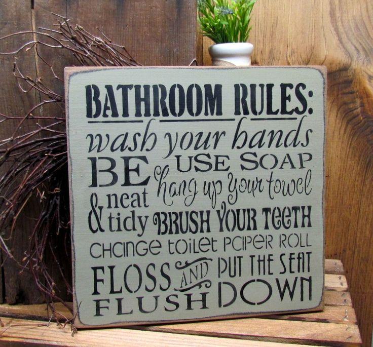 The 25 best bathroom rules ideas on pinterest signs for for Bathroom decor rules