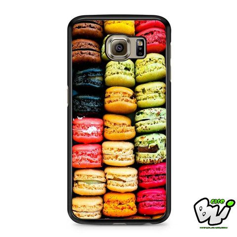 Colorful Paris Macarons Food Samsung Galaxy S7 Case