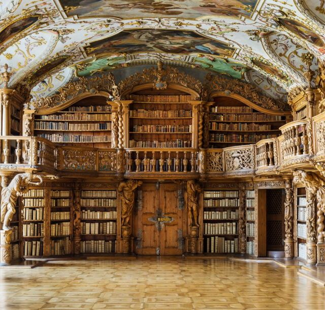 Waldsassen Abbey Library in Bavaria, Germany