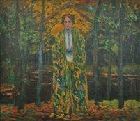 In the forest by Antonin Hudecek before 1910