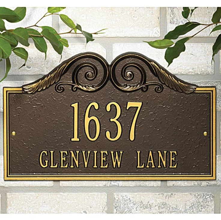 17 Best Images About Address Sign On Pinterest | Outdoor Office Painted Signs And Address Signs
