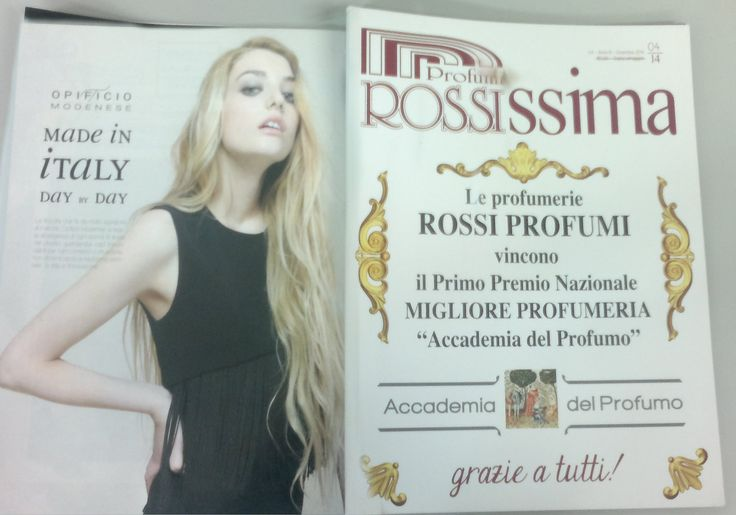 "Opificio Modenese on ""Rossissima"" magazine Proudly made in italy"