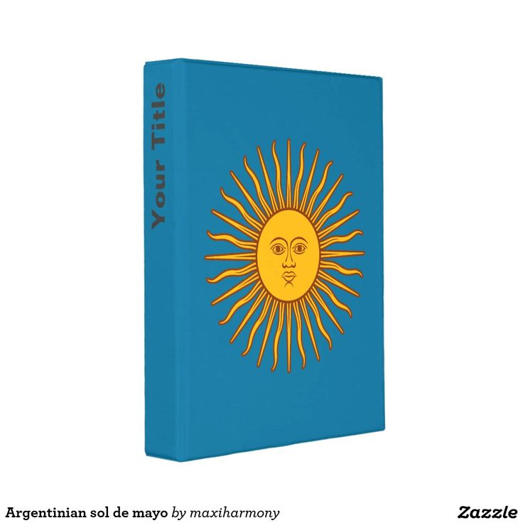 Argentinian sol de mayo mini binder
