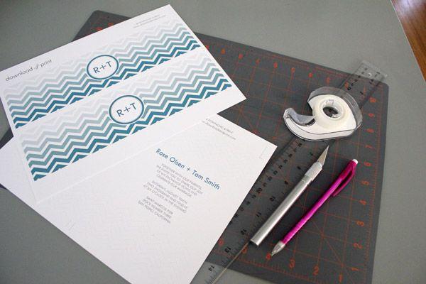 DIY Project: Chevron Invitations printable