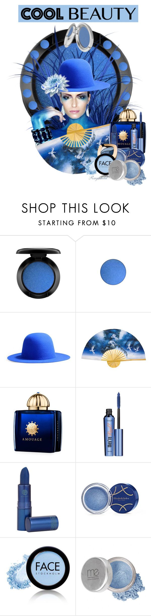 """""""True Blue Cool Eyeshadow"""" by ragnh-mjos ❤ liked on Polyvore featuring beauty, MAC Cosmetics, Études, AMOUAGE, Benefit, Lipstick Queen, Elizabeth Arden, L'Oréal Paris, FACE Stockholm and Mineral Essence"""
