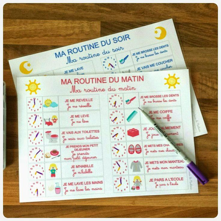 Trucs de Maëliane, le blog.: L'autonomie par les routines (printable inside)