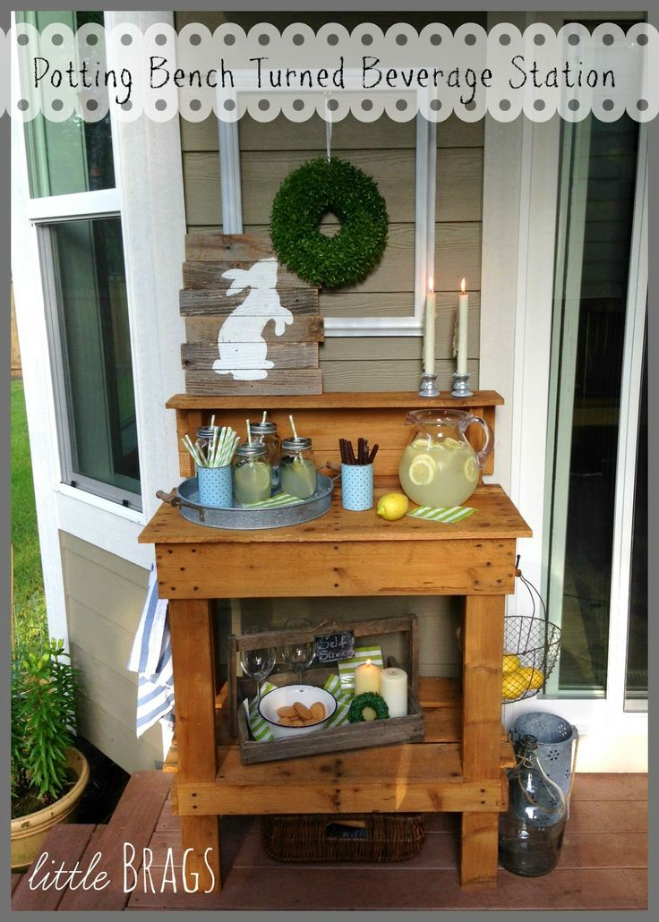 Lovely World Market Potting Bench Bar