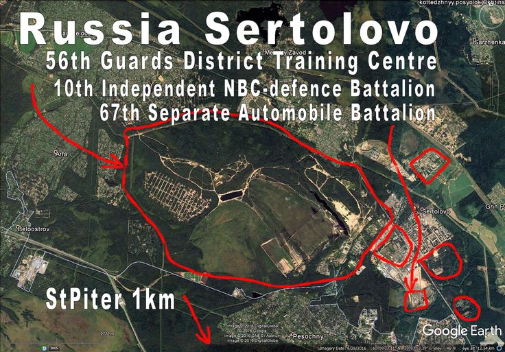 Russia Sertolovo, huge military training etc base/area. Lots of units, also comms. Close to Agatalovo (Army HQ).
