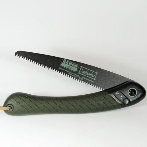 Bahco Laplander folding saw, ultimate bushcraft saw by which all other are judged.
