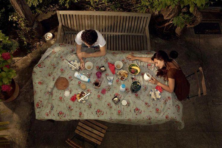 Lucie & Simon.  Last breakfast, C-print, 150x210cm, 2008
