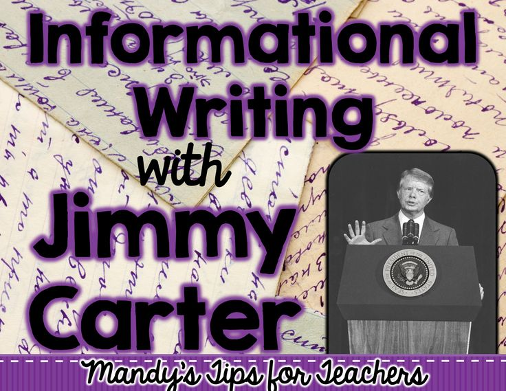Mandy's Tips for Teachers: Informational Writing with Jimmy Carter (FREEBIE)