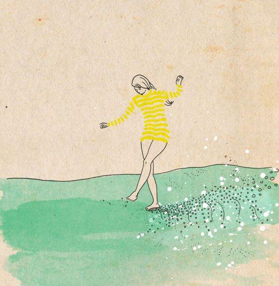 Agua mar amarelo