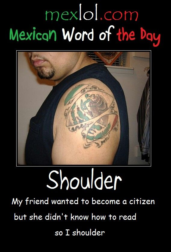 Mexican word of the day ~ Shoulder