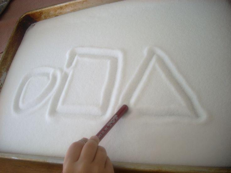salt in a cookie sheet