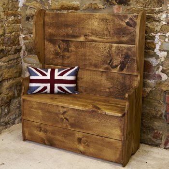 Chunky Monks Bench   Quality Rustic Farmhouse Furniture