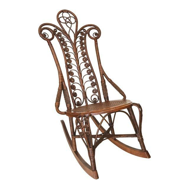 Image of Anderson Furniture Co. Wicker Rocking Chair